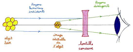 1d09332e7fcb9d Une lentille concave ou divergente transforme un faisceau de lumières  parallèles (onde plane) en un faisceau divergent qui semble provenir d un  point situé ...